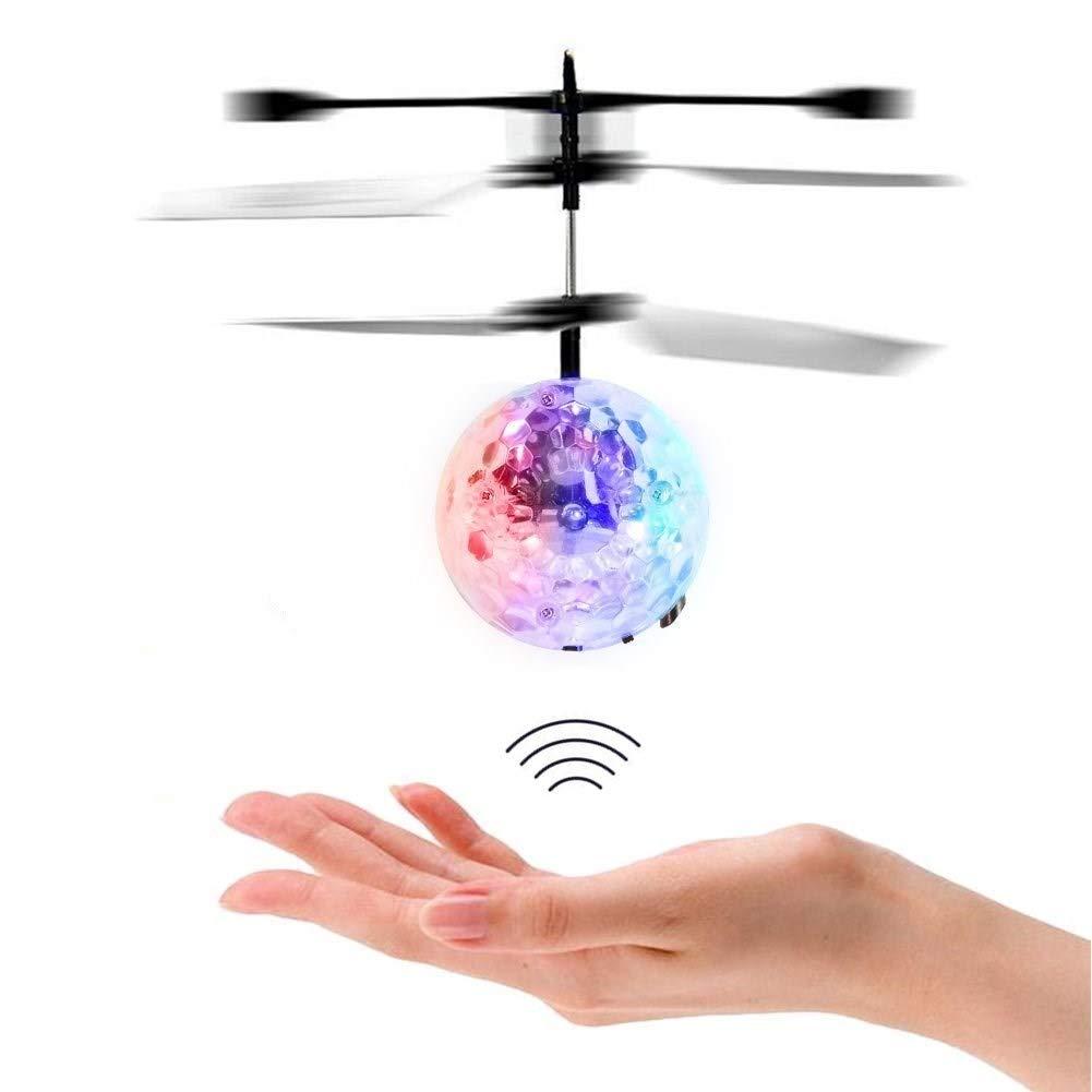 Flying Ball Fliegender Helikopter RC induktion Heliball Ferngesteuerte mit farbwechselnden LED-Lichtern Indoor Outdoor Spiele für Kinder Jugendliche