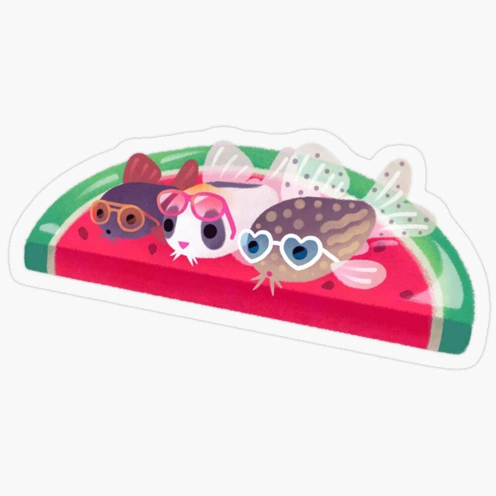"""Lplpol Stickers Cory Cats in The Swimming Pool Gift Decorations 5.5"""" Vinyl Stickers, Laptop Decal, Water Bottle Sticker"""