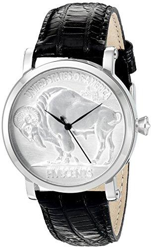 Croton Mens Quartz Watch - CROTON Men's CN307404COSS Curren C Analog Display Swiss Quartz Black Watch