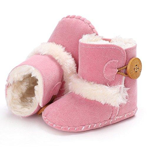 Infantil Del Auxma Muchacha Lindos De Primeros Para Por Moda Meses Rosado 0 Caminar Bebé Zapatos La Invierno Cómodos 18 Calientes Nieve Botas 7Pgqvw