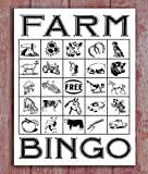 PotteLove Farm Sign Bingo Card Farm Kids Room Sign