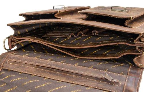 Greenburry Vintage Maletín piel 40 cm brown