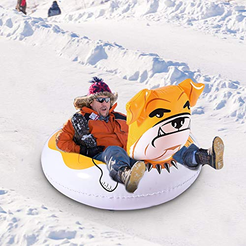 WateBom Snow Tube with Bulldog Design, Inflatable Snow Sled for Kids or Adults, 48 Inches Heavy Duty - http://coolthings.us