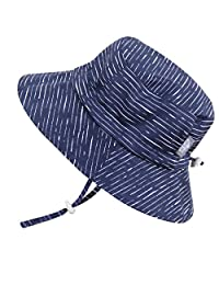 Kids 50+ UPF Sun Protection Hat, Size Adjustable Breathable with Chin Strap (Large: 24m - 12Y,