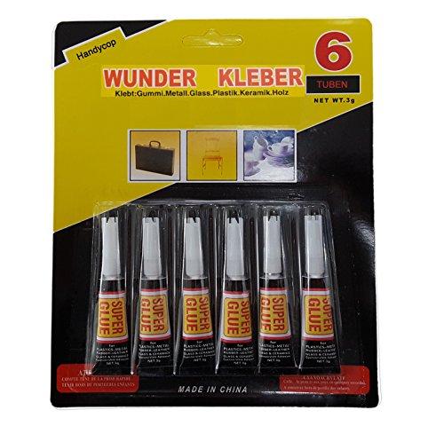 Handycop® 6er Set - Superkleber / Sekundenkleber - 6x 3g = 18 Gramm