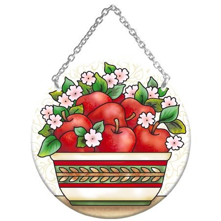 Apple Orchard Stained Glass Suncatcher (MC165R) ()