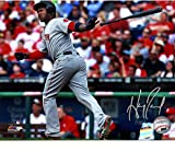 : Hanley Ramirez Signed Red Sox Throwing Bat After Hit 8x10 Photo ( LOJO Sports Auth)