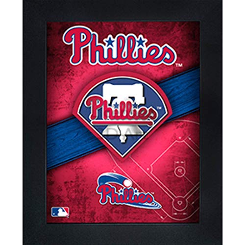 Philadelphia Phillies 3D Poster Wall Art Decor Framed Print | 14.5x18.5 | Lenticular Posters & Pictures | Memorabilia Gifts for Guys & Girls Bedroom | MLB Baseball Sports Team Fan Poster for Man Cave ()