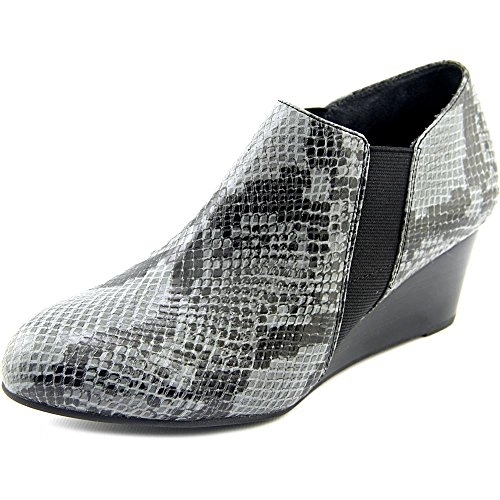 VIONIC Women's Elevated Stanton Wedge Grey Snake Wedge by Vionic