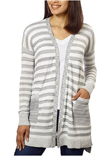Calvin Klein Jeans Ladies' Long Cardigan (Grey, XXL) ()
