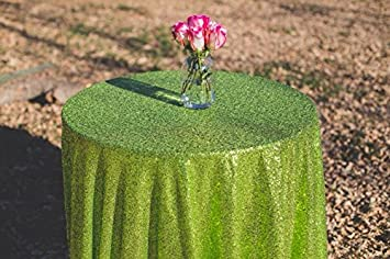 ShinyBeauty LimeGreen Sequin Tablecloth 120Inch Sparkle Tablecloth For  Wedding/Party/Christmas