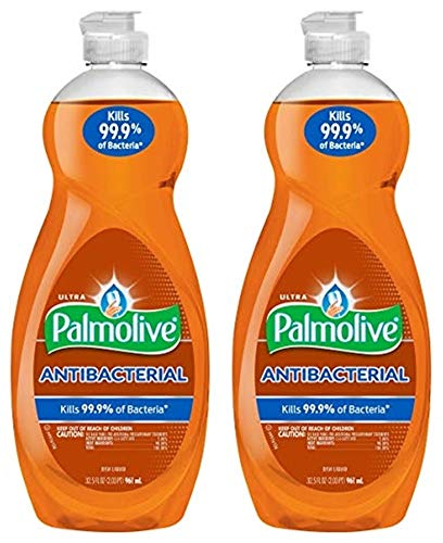 Palmolive Ultra Dishwashing Liquid Antibacterial Dish Soap - 32.5 fluid ounce (Pack of 2)