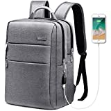 Cheap HOMIEE Laptop Backpack with USB Charging Port, Unisex Waterproof Business Travel Backpack for Commute and School with Metal Handle and Luggage Belt, Fits to 13-15 inch MacBook Pro and Laptop Notebooks
