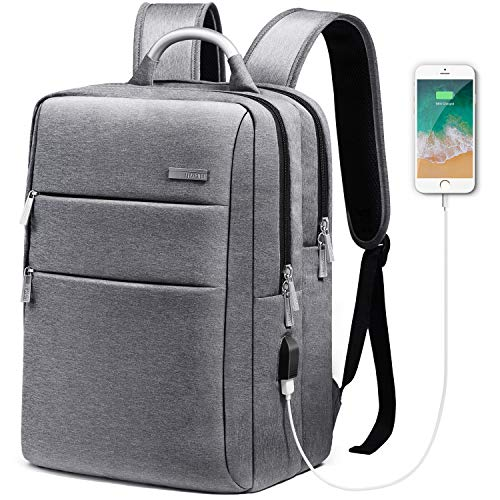 HOMIEE Laptop Backpack with USB Charging Port, Unisex Waterproof Business Travel Backpack for Commute and School with Metal Handle and Luggage Belt, Fits to 13-15 inch MacBook Pro and Laptop Notebooks by HOMIEE