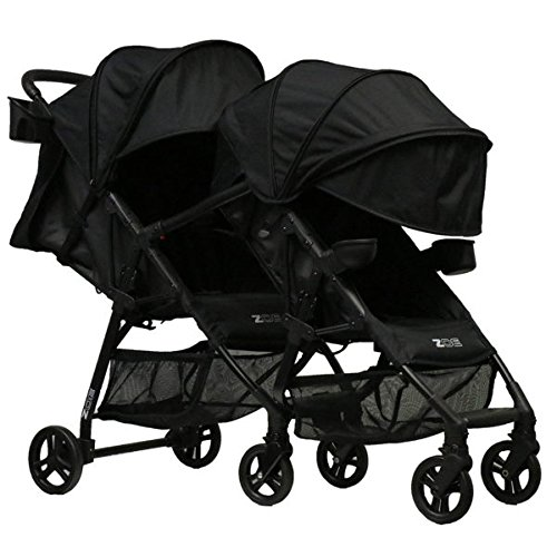 ZOE XL1 Best Tandem Lightweight Travel & Everyday Umbrella Stroller System (Black)