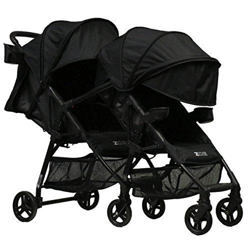 ZOE XL1 Best Tandem Lightweight Travel & Everyday Umbrella Stroller System (Black)