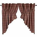 VHC Brands Parker Scalloped Prairie Swag Set of 2, 36x36x18 For Sale