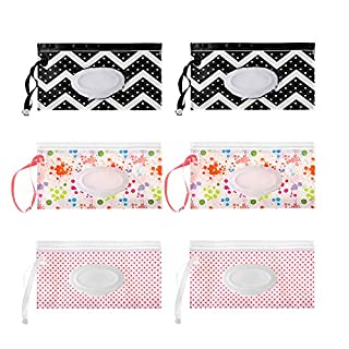 Wet Wipe Bag,Baby Snap Strap Cleaning Supplies Clamshell Wipes Case Wet Wipes Bag Napkin Storage Box Cosmetic Pouch (A)
