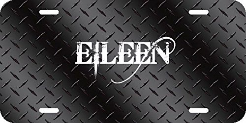 Any and All Graphics EILEEN name on Black Diamond Tread Affect novelty license plate sign