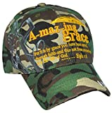 Buy Caps and Hats Christian Baseball Cap, Amazing Grace with Bible Verse, Camouflage Hat, Prayer Hands