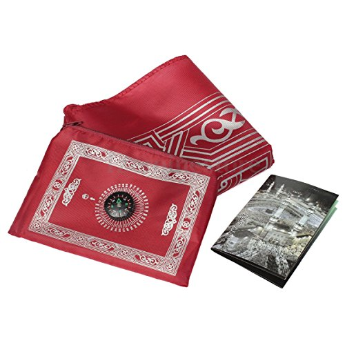 Tabakh Muslim Compass Portable Burgundy product image