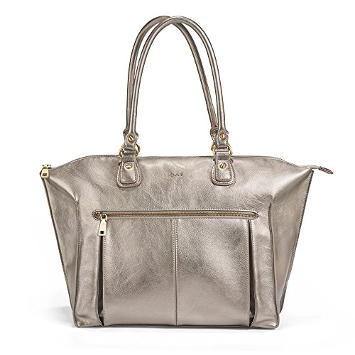 Newlie Lily Tote Diaper Bag, Pewter