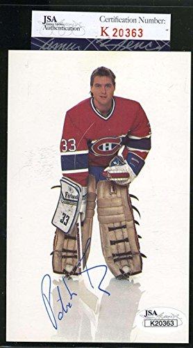 Patrick Roy Hand Signed (PATRICK ROY COA Autograph Early Canadiens Postcard Hand Signed Authentic - JSA Certified - NHL Cut Signatures)