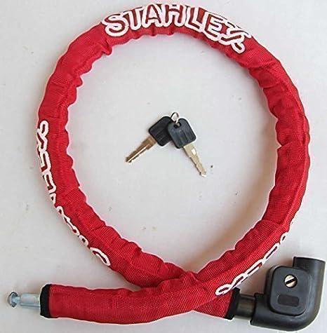 Stahlex Candado de Bicicleta 100cm Seguro 3796: Amazon.es ...