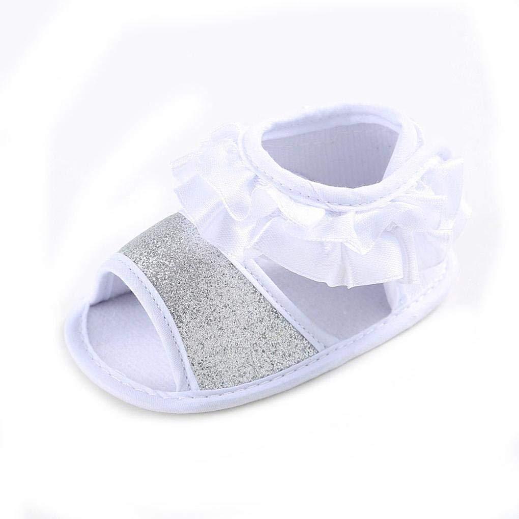 Carry stone Premium Qualit/ät Baby Blume Sandalen Kleinkind Prinzessin Erste Wanderer M/ädchen Kind Schuhe 0~6 Monat Wei/ß