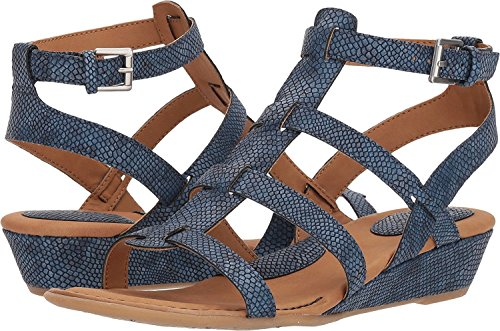 B.O.C. Womens Heidi Open Toe Casual Platform Sandals Navy Exotic Print Pu H2iibIZgn