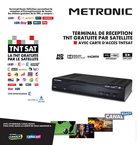 metronic d2424  Metronic 441639 Decoder digitale TNT SAT HD, colore nero:  ...