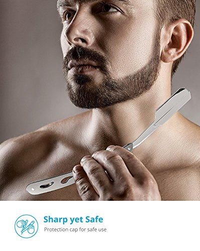 Equinox Professional Straight Edge Razor with 100 Single Edge Derby Blades - Close Shaving Men's Manual Shaver Safety by Equinox International (Image #6)