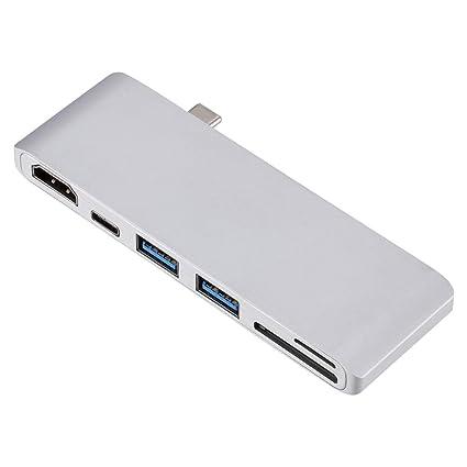 Uonlytech USB C 3.0 Hub Tipo-C a 4K * 2K Adaptador de Lector ...