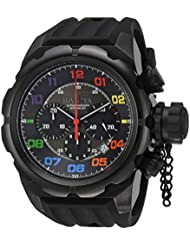 Invicta Mens Russian Diver Quartz Stainless Steel and Silicone Casual Watch, Color:Black (Model: 22421)