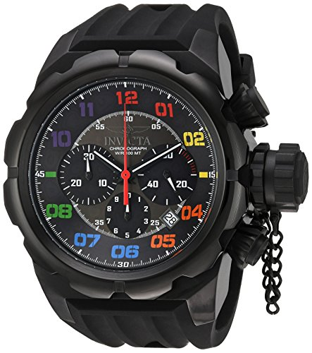 Invicta Men's Russian Diver Stainless Steel Quartz Watch with Silicone Strap, Black, 34 (Model: 22421 ()