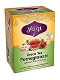 Yogi Teas Pomegranate Green Tea, 16 Count (Pack of 6)