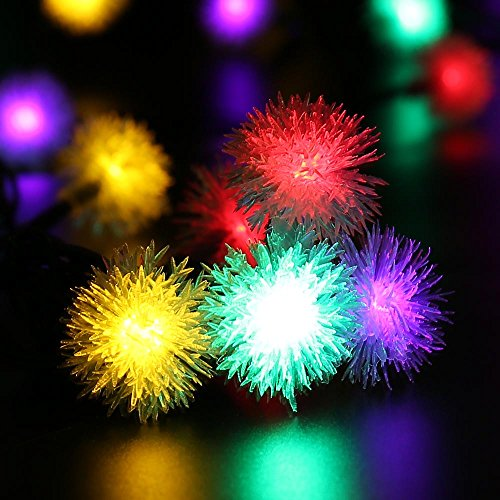 qedertek chuzzle ball solar christmas lights 15ft 20 led import it all. Black Bedroom Furniture Sets. Home Design Ideas