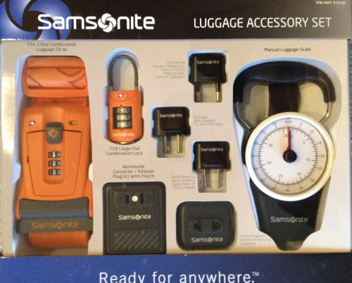 Samsonite Travel Plug Adapters and Luggage Accessory Set