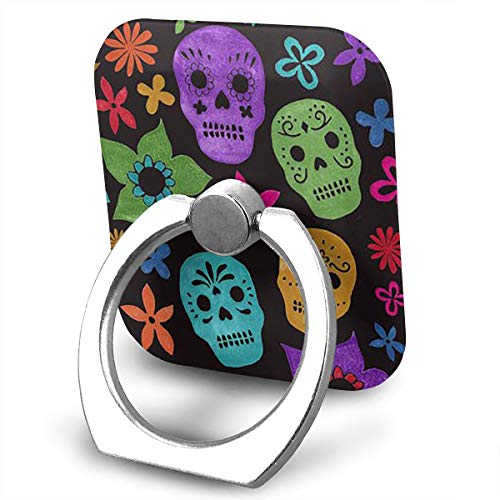 BLDBZQ Cell Phone Ring Holder Halloween Wallpaper Skull Finger Grip Stand Holder 360 Degrees Rotation Compatible with iPhone Samsung Phone Case -