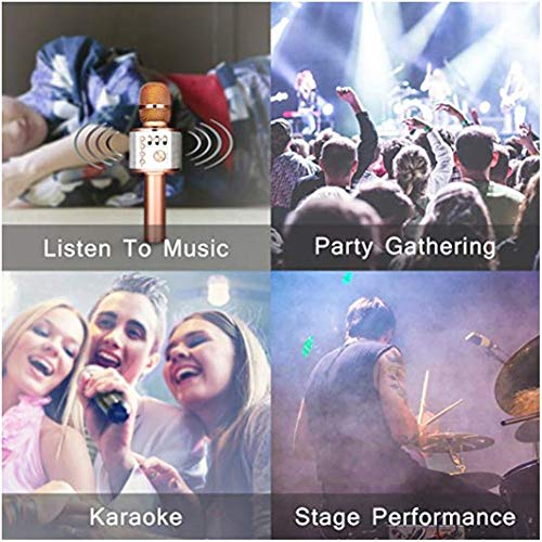 Wireless Karaoke Microphone Machine 3 in 1 Handheld Portable Bluetooth Karaoke Player Compatible with Android & iOS for Home KTV Bar Party Muisc Playing Singing & Recording Wireless Bluetooth Karaoke by Xiuzhifuxie (Image #5)