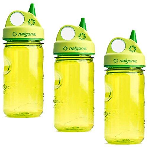 Grip N-gulp Spring (Nalgene Grip-n-Gulp Water Bottle - 3 Pack (Spring Green))
