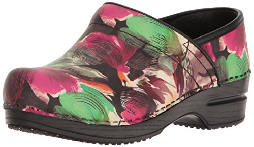 Sanita Women's Smart Step Sharon Work Shoe, Multicolor, 36 EU/5.5/6 M US (Sanita Slip Clogs)