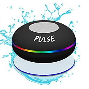 CSJ  Pulse Wireless Waterproof Bluetooth 4.0 Shower Speaker - Black
