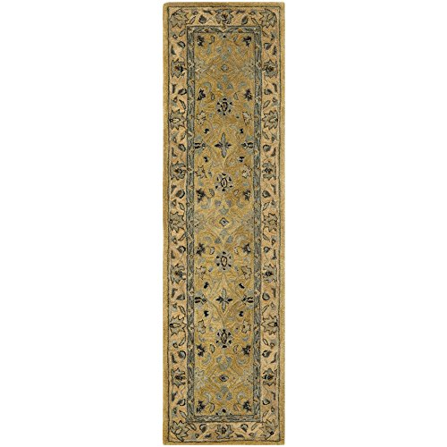 Safavieh Anatolia Collection AN580C Handmade Traditional Oriental Golden Pear and Smoke Wool Runner (2'3