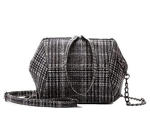 AllhqFashion Women's Tote Bags Shopping Casual Pu Crossbody Bags,FBUBC219570,Gray by AllhqFashion