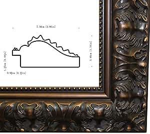 amazoncom brown black canvasmirrorposter frame 20x28