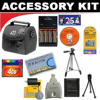 Dimage G600 Accessories - 4GB DB ROTH Deluxe Accessory kit for The Minolta Dimage G400, G500, G600 Digital Cameras