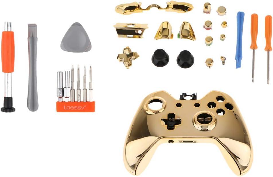 H Hilabee - Juego de destornilladores de repuesto para Microsoft Xbox One, carcasa y juego de botones: Amazon.es: Videojuegos