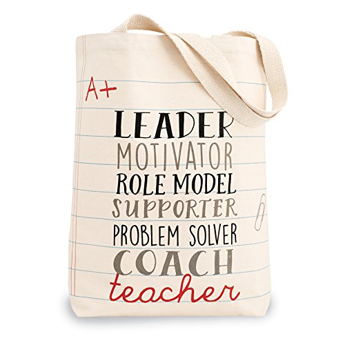 Mud Pie Leader Teacher Canvas Tote