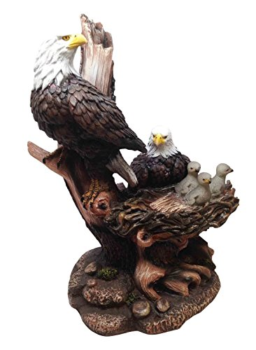 Ebros Icarus The American Bald Eagle Family In Nest Statue 12